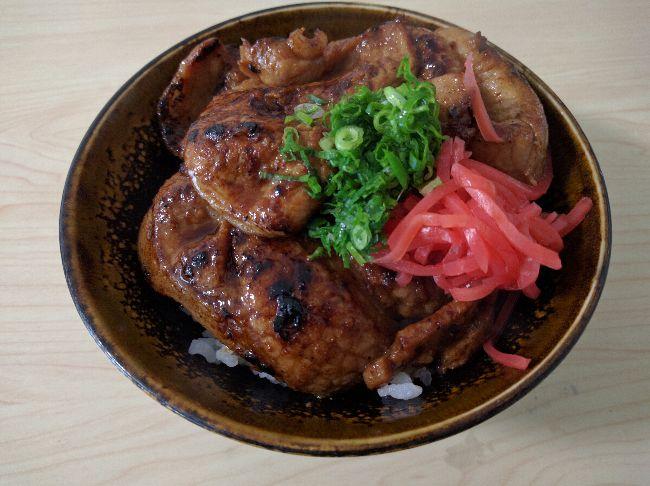 肉の味噌漬け丼