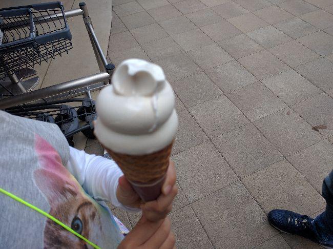 うまくたの里で買ったソフトクリーム