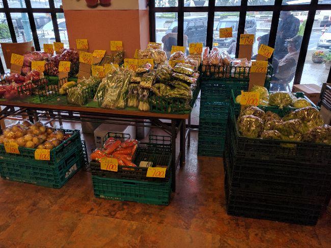 川口PA野菜売り場