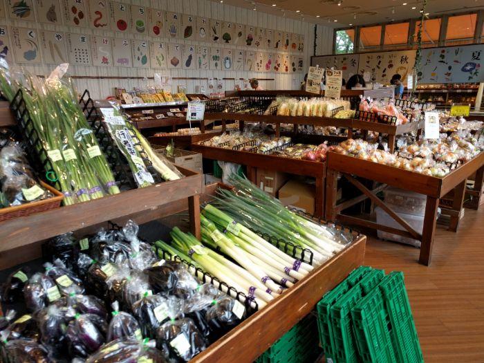 食の駅の豊富な野菜