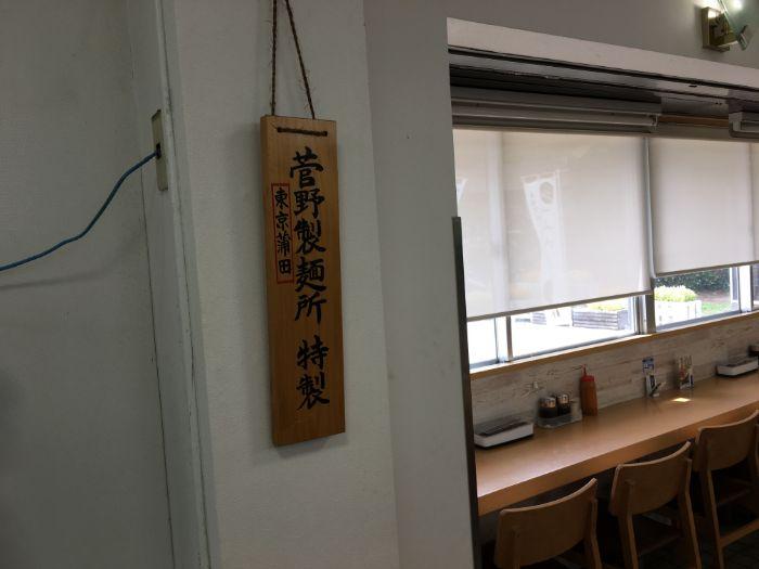 菅野製麺所の看板