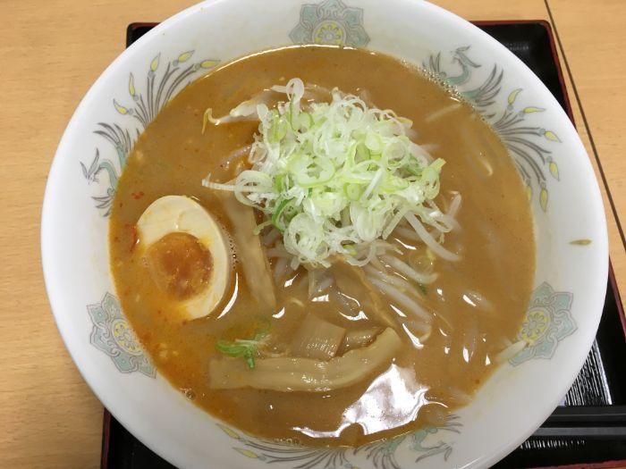 谷田部東PAの味噌ラーメン