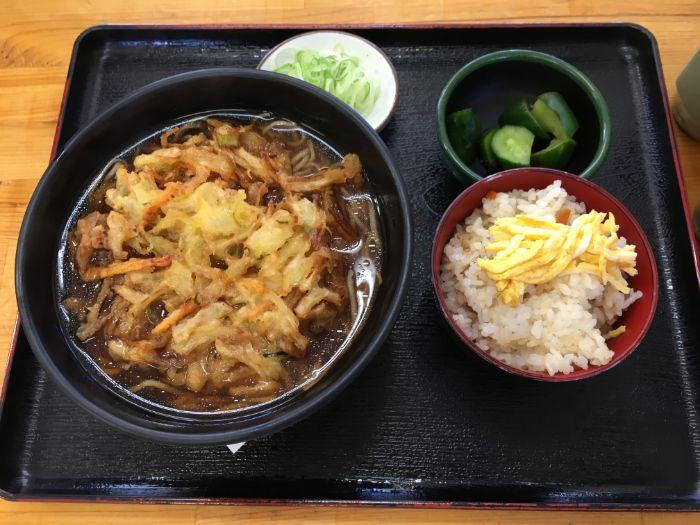 天ぷらそばセット