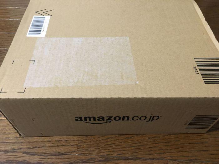 Amazonの箱に入った資生堂パーラービスキュイ