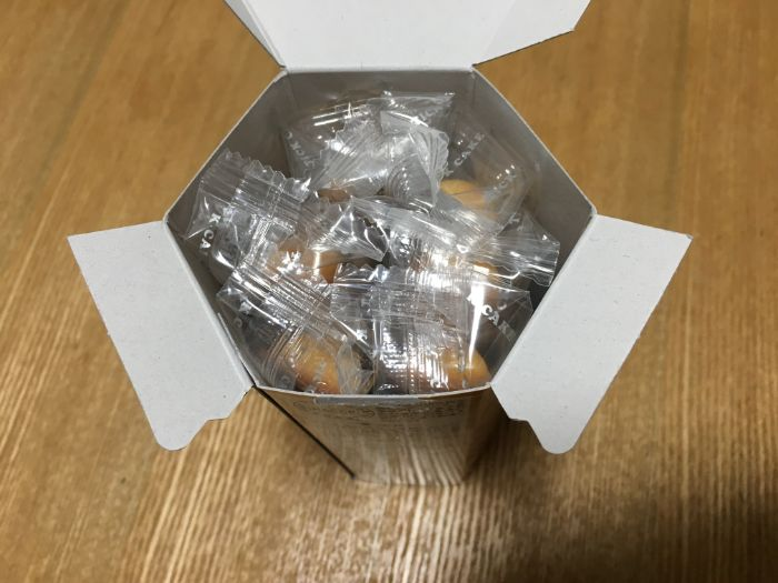 マルコメ信州味噌チーズスティックケーキ箱の中