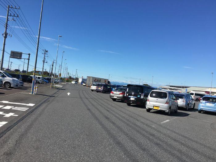 道の駅ごかの駐車場
