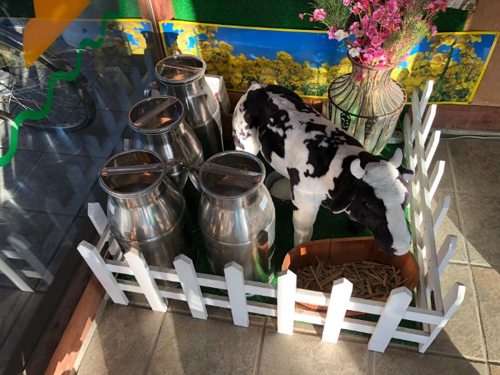 道の駅三芳村牛の人形