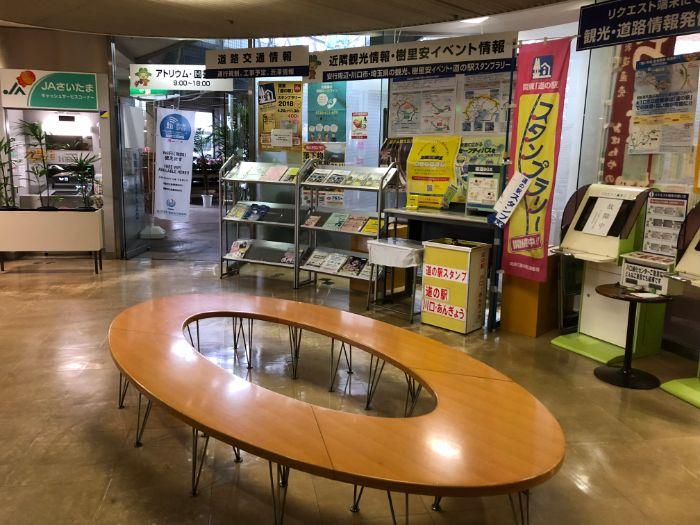 道の駅川口あんぎょうインフォメーションコーナー