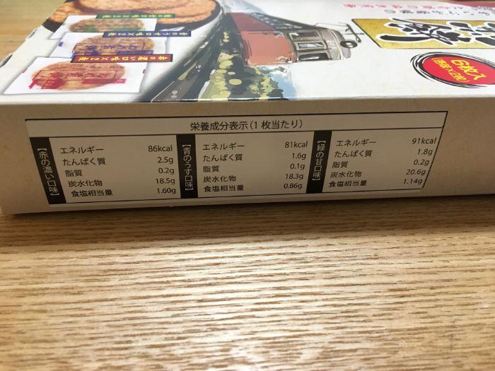 銚子電鉄ぬれ煎餅カロリー表示