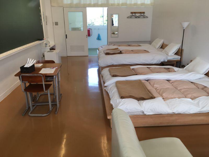 保田小学校宿泊施設の様子